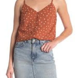 MADEWELL Button Down Cami in Burnt Clay